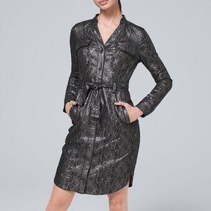 White House Black Market foil reptile dress, 6